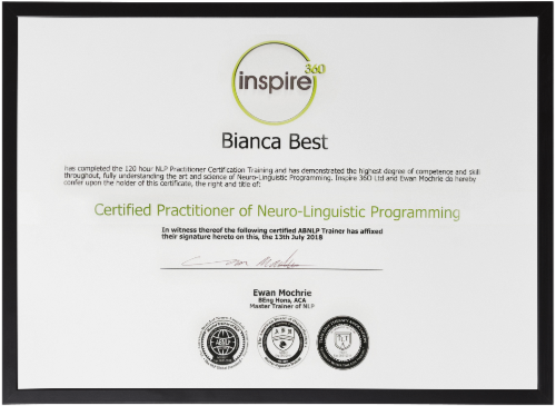 Bianca-Best-Neuro-Linguistic-Practioner-Certificate